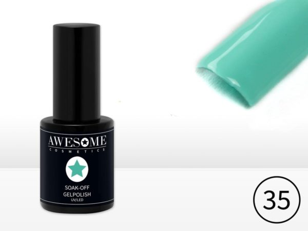 Awesome #35 Mint Groen Gelpolish - Gellak - Gel nagellak - UV & LED