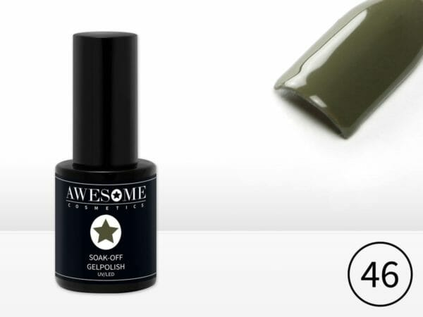 Awesome #46 Army Green Leger Groen Gelpolish - Gellak - Gel nagellak - UV & LED