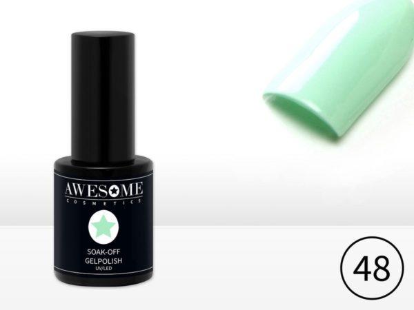 Awesome #48 Pastel Mint Groen Gelpolish - Gellak - Gel nagellak - UV & LED