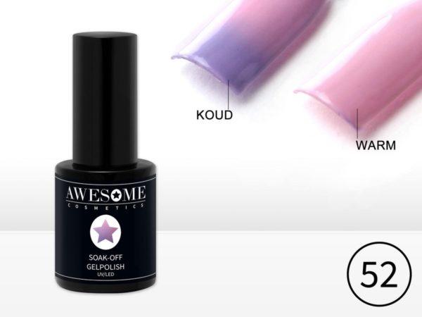 Awesome #52 Thermo Gelpolish Lila - Baby Roze - Thermo Gellak - Thermo Gel nagellak - UV & LED