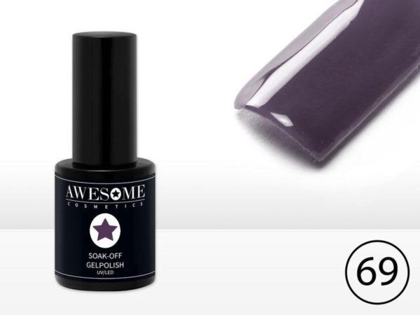 Awesome #69 Donker Paars Gelpolish - Gellak - Gel nagellak - UV & LED