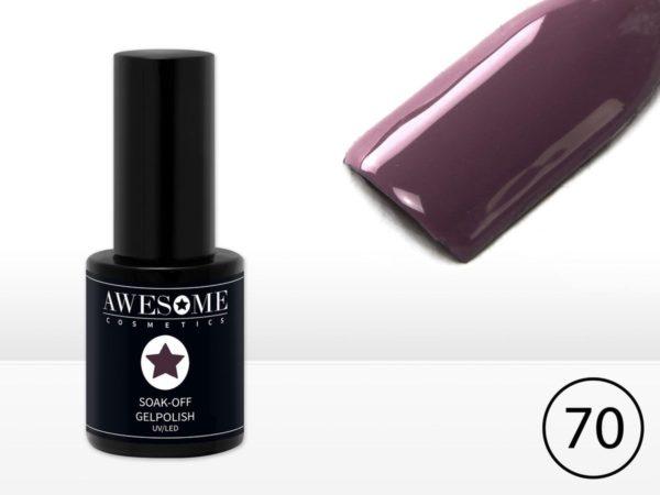 Awesome #70 Taupe Paars Grijs Gelpolish - Gellak - Gel nagellak - UV & LED