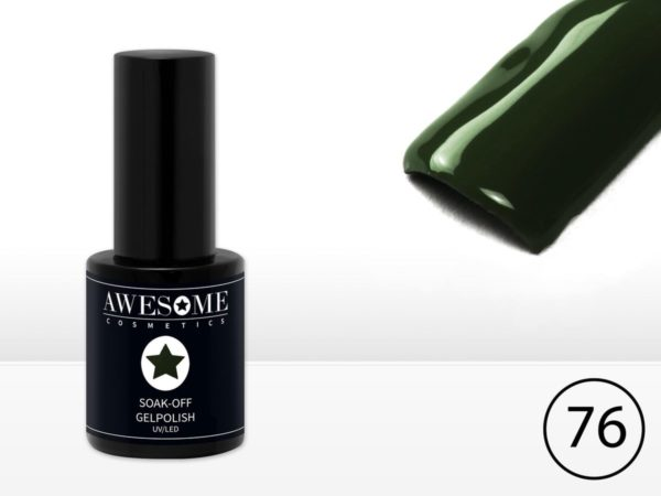 Awesome #76 Donker Groen Gelpolish - Gellak - Gel nagellak - UV & LED