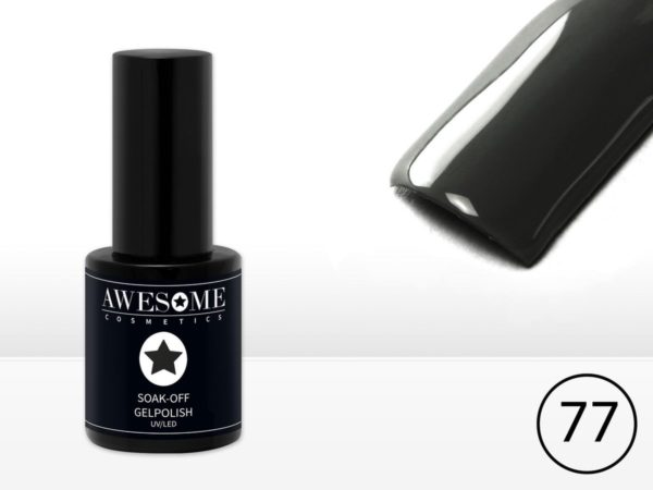 Awesome #77 Donker Antraciet - Grijs Gelpolish - Gellak - Gel nagellak - UV & LED