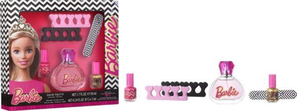 Barbie - Geschenkset - Eau de toilette + Nail accessoires