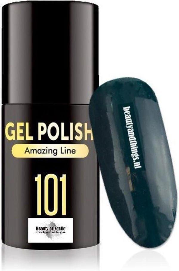 Beauty of Noelle© Top-Line Gellak 101 teal green blue 5ml - gel nagels - acrylnagels - nep nagels - manicure