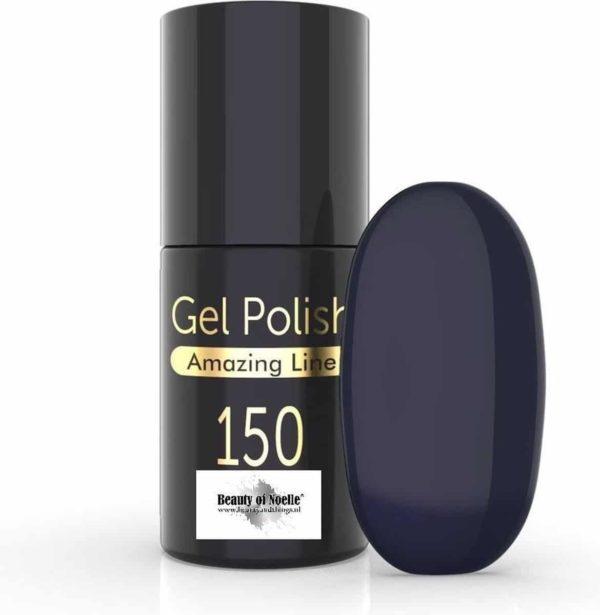 Beauty of Noelle© Top-Line Gellak 150 aegean grey blue 5ml - gel nagels - acrylnagels - nep nagels - manicure