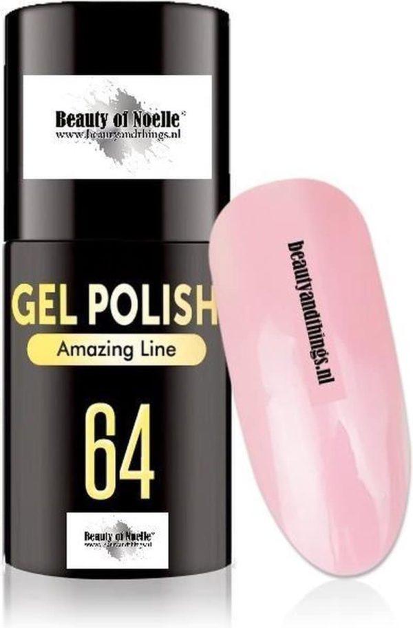Beauty of Noelle© Top-Line Gellak 64 light pink 5ml - gel nagels - acrylnagels - nep nagels - manicure