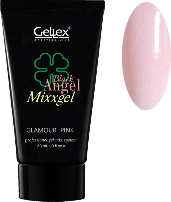Black Angel Mixxgel, Polygel, Polyacryl gel, GLAMOUR Pink 30ml