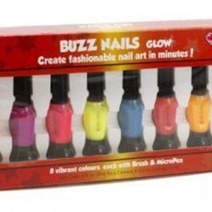 Buzz Nagellak Glow 8 kleuren kwast en pen