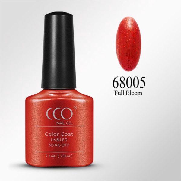 CCO Shellac-Full Bloom 68005-Rode Basis Vol Rode Glitters-Gel Nagellak