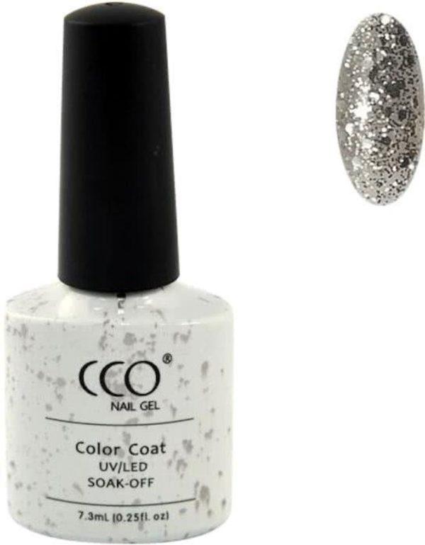 CCO Shellac - Shine Star 68089 - transparante basis met een opvallend gouden glitter-Gel Nagellak