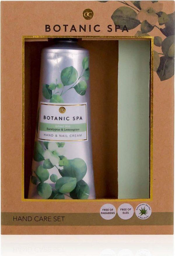 Cadeau vrouw verjaardag - Botanic Spa - 60ml Hand/nagelcrème eucalyptus & lemongrass + Nagelvijl - Cadeau voor moeder, vriendin, oma