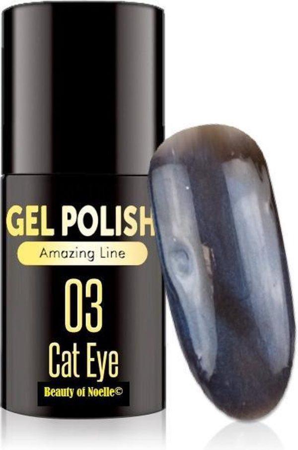 Cat-Eye Blauw 03 - Magnetic Gelpolish incl. magneet stick - gellak, acryl nagels, gel nagels, pedicure, nepnagels