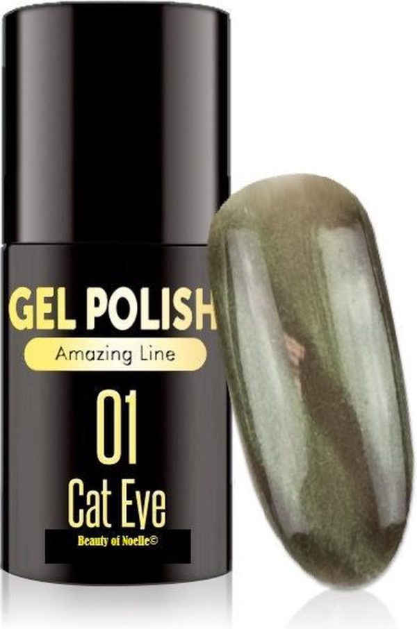 Cat-Eye Groen 01- Magnetic Gelpolish incl. magneet stick - gellak, acryl nagels, gel nagels, pedicure, nepnagels