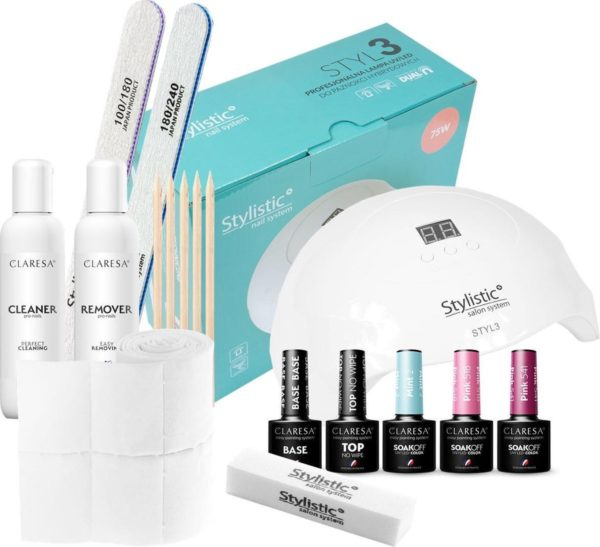 "Claresa Stylistic Nageldecoratie Set ""The Best"" Inclusief 75W. UV/LED Lamp"
