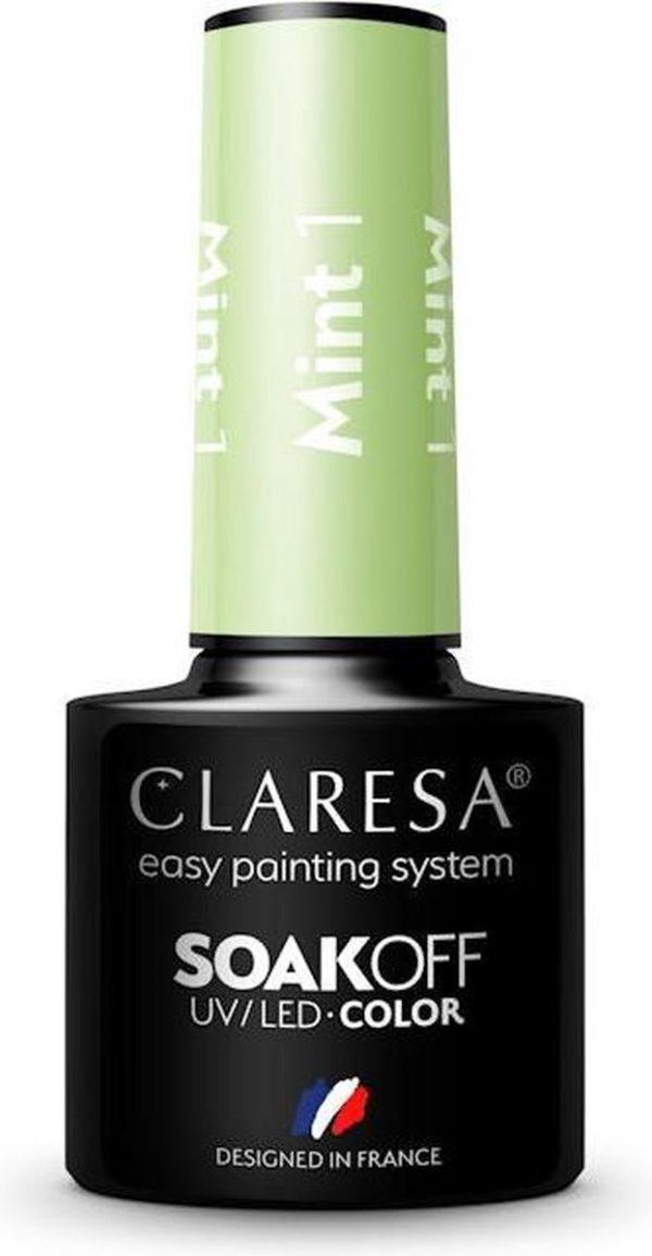 Claresa UV/LED Gellak Mint #1 - 5ml.