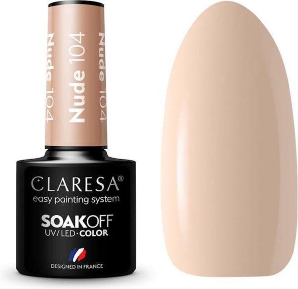 Claresa UV/LED Gellak Nude #104 - 5ml.