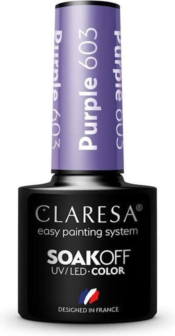 Claresa UV/LED Gellak Paars #603 - 5ml.