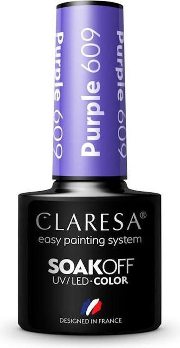 Claresa UV/LED Gellak Paars #609 - 5ml.