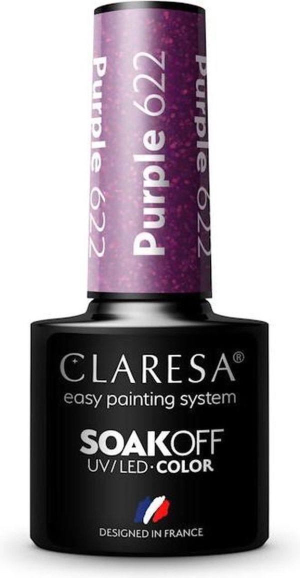 Claresa UV/LED Gellak Paars #622 - 5ml.
