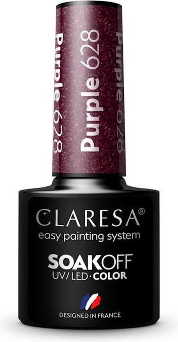 Claresa UV/LED Gellak Paars #628 - 5ml.