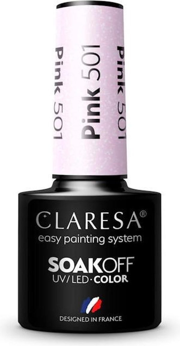Claresa UV/LED Gellak Roze #501 - 5ml.
