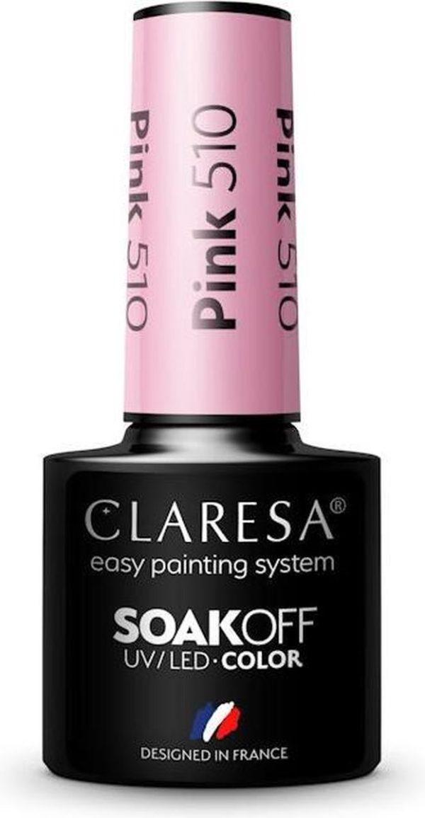 Claresa UV/LED Gellak Roze #510 - 5ml.