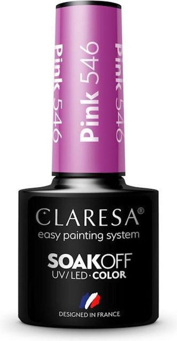 Claresa UV/LED Gellak Roze #546 - 5ml.