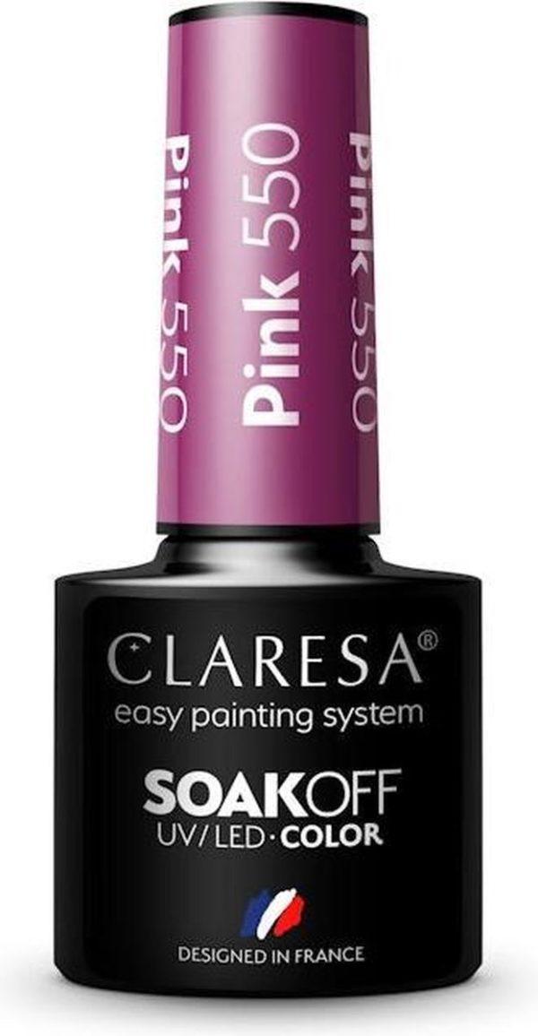 Claresa UV/LED Gellak Roze #550 - 5ml.