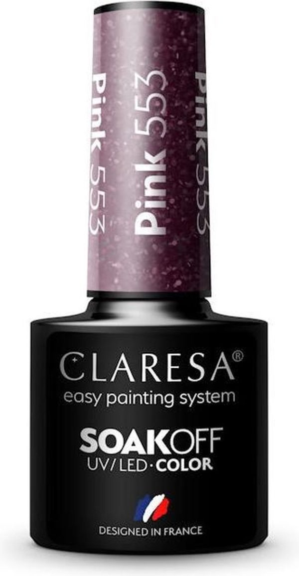 Claresa UV/LED Gellak Roze #553 - 5ml.