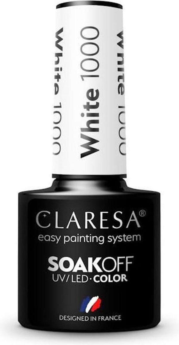 Claresa UV/LED Gellak White #1000 - 5ml.