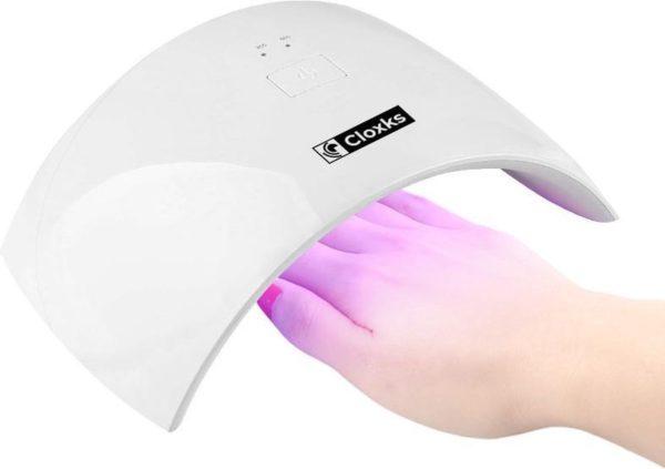 Cloxks - Nageldroger - UV lamp - Led lamp - Gellak lamp - Nagellak - Nagellamp - 36W - Gelnagels - Gel nagellak - Compact - Wit