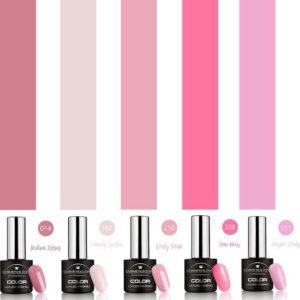 Cosmetics Zone Gellak Set 5 kleuren Roze