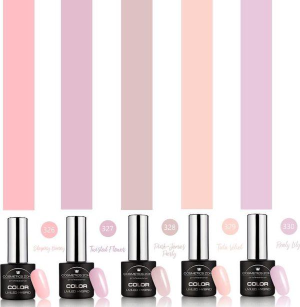 Cosmetics Zone Gellak Set 5 kleuren Sweet Pink