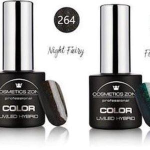 Cosmetics Zone Gellak Set Topcoat, Basecoat en 3 kleuren - Night Walk