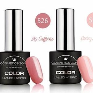Cosmetics Zone Gellak Set Topcoat, Basecoat en 3 kleuren - Nude