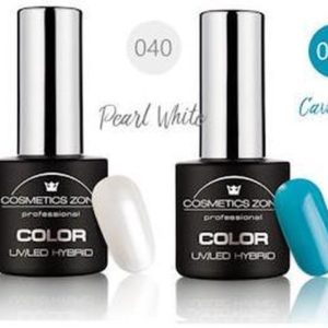 Cosmetics Zone Gellak Set Topcoat, Basecoat en 3 kleuren - Ocean Beach