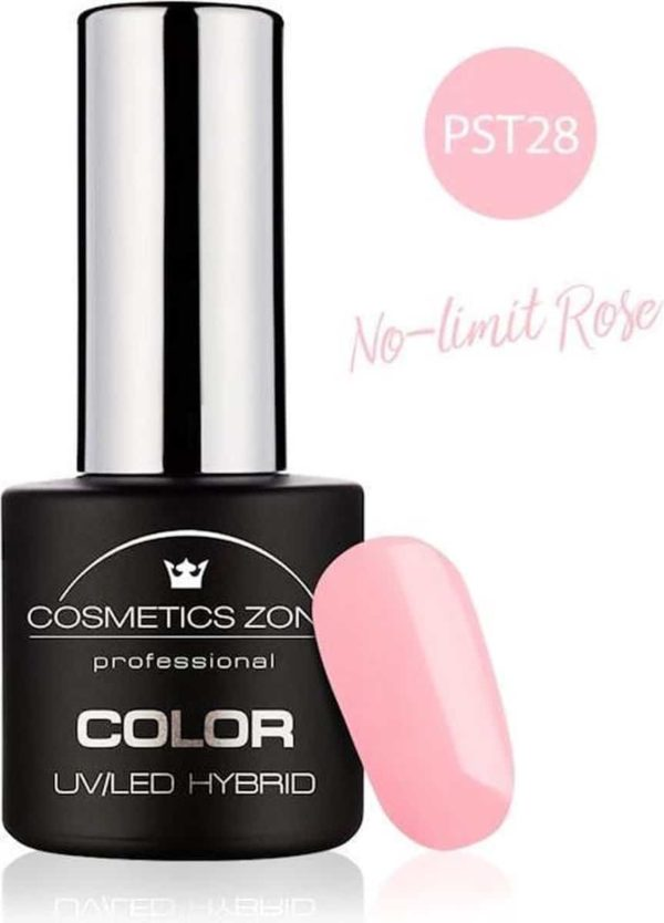 Cosmetics Zone UV/LED Gellak No-limit Rose PST28