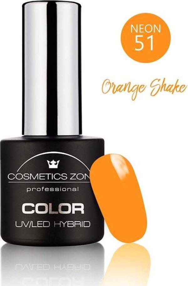 Cosmetics Zone UV/LED Gellak Orange Shake N51