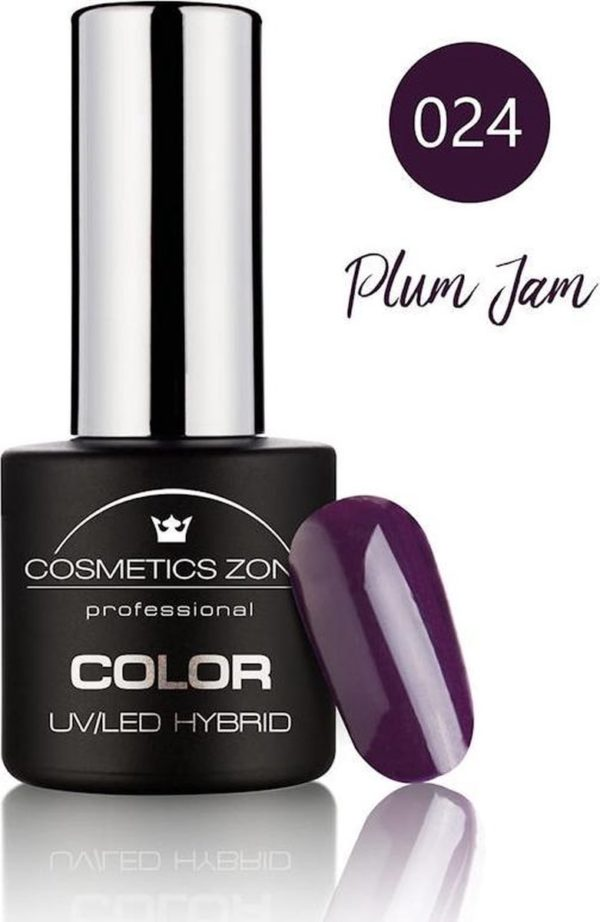 Cosmetics Zone UV/LED Gellak Plum Jam 024