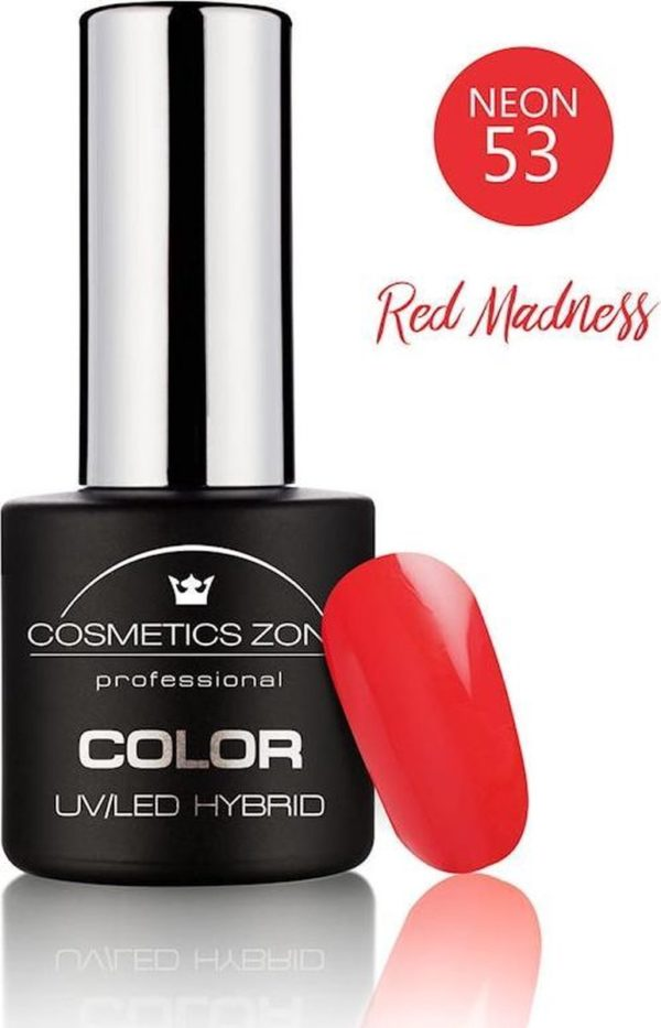 Cosmetics Zone UV/LED Gellak Red Madness N53