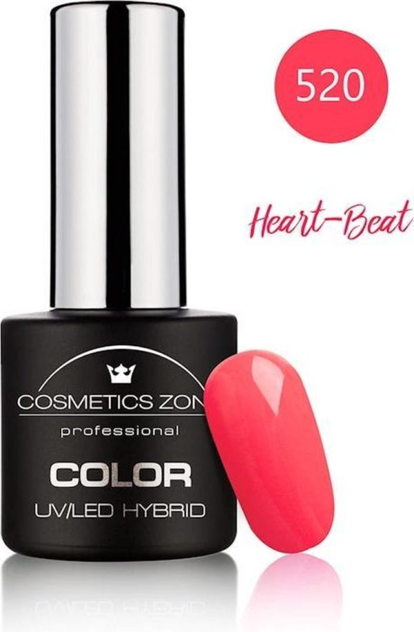 Cosmetics Zone UV/LED Hybrid Gellak 7ml. Heart-Beat 520