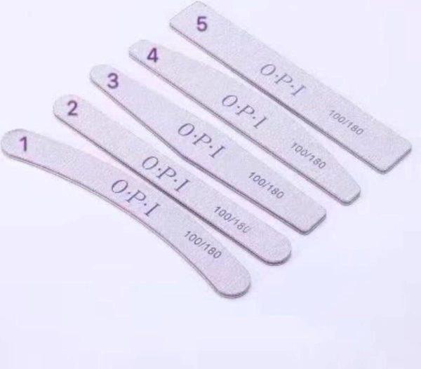 DD Nails Cosmetics/Nagelvijl No. 5 Rechthoek 100/180 GIT - Grof - 5 STUKS - Zachte Vijl - High Quality - Professionele markt