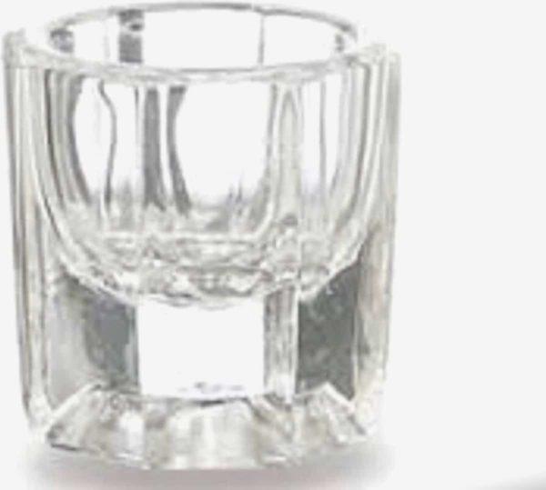 DD Nails cosmetics/Glazen dappenglaasje/Dappendish/Glazen dappenglaasje, glaasje voor acryl liquid, dappendish voor liquid, dappendish acryl liquid nagels