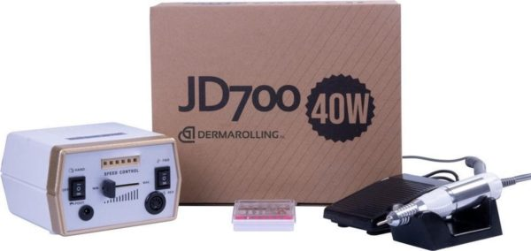 DRM Professionele 40w. Manicure Nagelfrees JD700 Wit / Goud