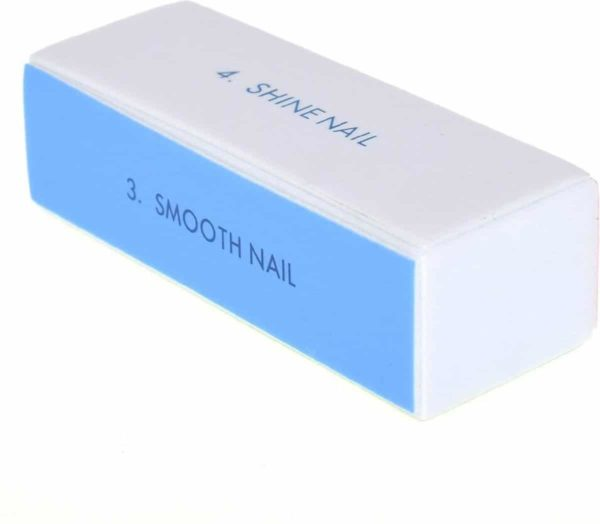 DW4Trading® 4-Zijdig blauwe nagelvijl polijstblok 1 stuks