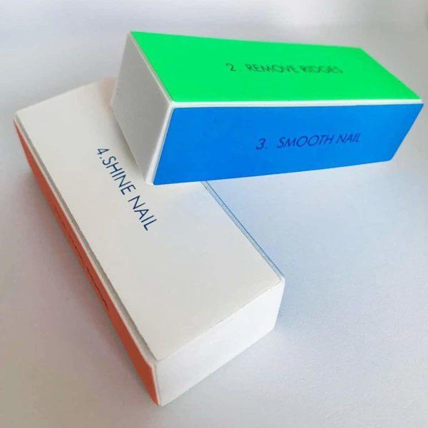 DW4Trading® 4-Zijdig kleurrijke nagelvijl polijstblok 1 stuks