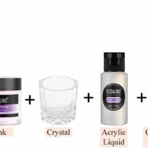 DW4Trading® Acryl poeder starters set roze