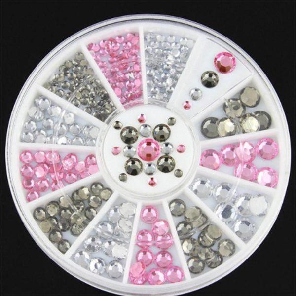 DW4Trading® Nagelversiering nail art acryl gel rhinestones carrousel 10
